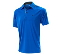 Mizuno Mens Flat Knit Laser Golf Polo Shirt 2014 (Royal Blue)