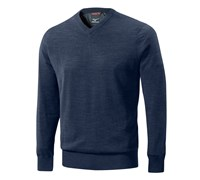 Mizuno Mens Hayate V Neck Sweater (Dress Blue)