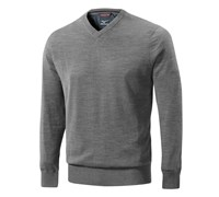 Mizuno Mens Hayate V Neck Sweater (Light Grey)