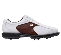 FootJoy Mens Softjoy Golf Shoes 2014 (White/Brown)