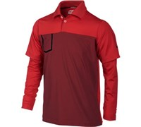 Nike Boys Fashion Long Sleeve Pocket Polo Shirt 2013 (Challenge Red/Metallic Si)