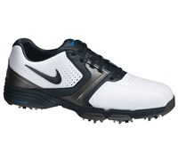 Nike Mens Lunar Saddle Golf Shoes 2013 (White/Black-Metallic Dark Grey)