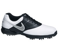 Nike Mens Heritage III Golf Shoes 2013 (White/Metallic Silver-Black)