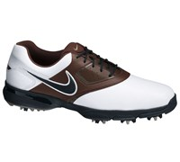 Nike Mens Heritage III Golf Shoes 2013 (White/Black-Lite Chocolate-Cool Grey)