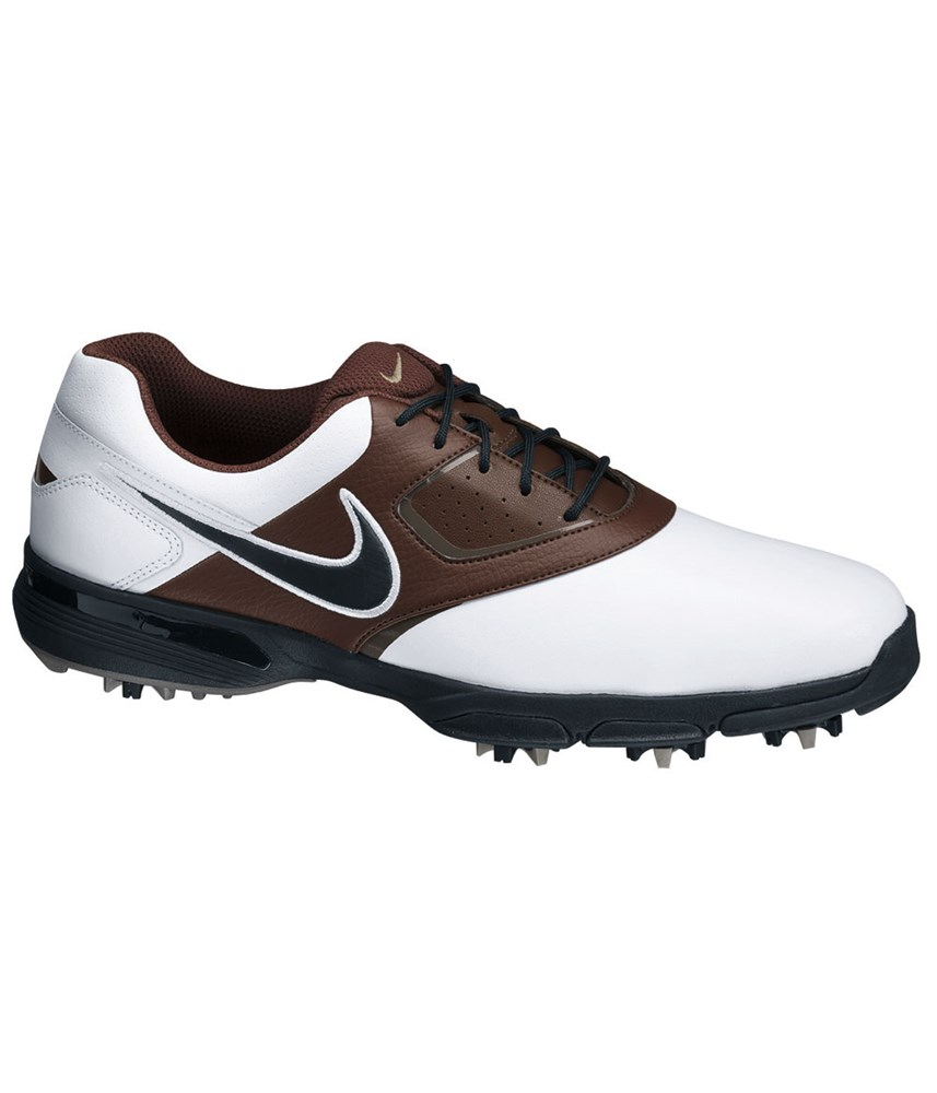 nike mens heritage iii golf shoes white brown golfonline
