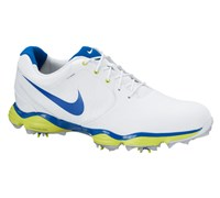 Nike Mens Lunar Control II Golf Shoes 2014 (White/Blue/Green)