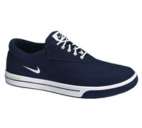Nike Mens Lunar SwingTip Canvas Golf Shoes 2014 (Blackened Blue/White-Black-Volt)