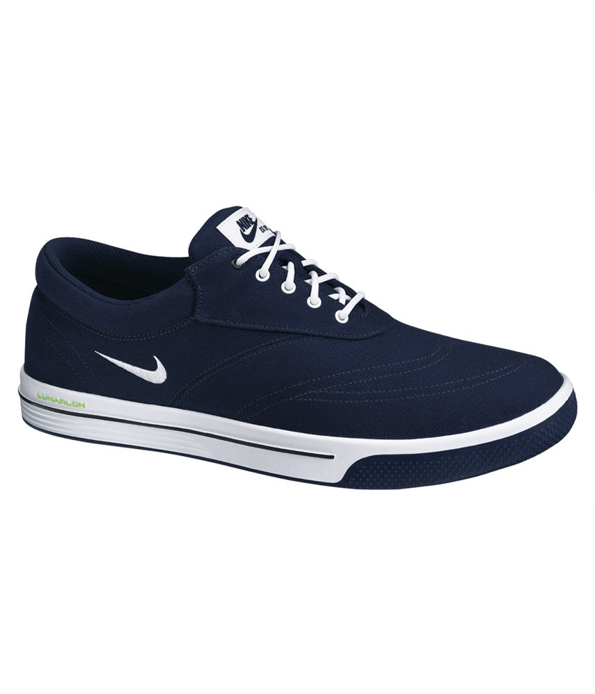nike mens lunar swingtip canvas golf shoes blue white 2014