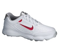 Nike Junior Remix II Golf Shoes 2014 (White/White/Metallic Silver)