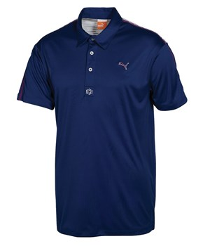 Puma Golf Mens Stripe Yoke Tech Polo Shirt