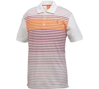 Puma Golf Junior Stripe Tech Polo Shirt (White/Red)