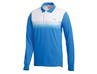 Puma Mens Yarn Dye Long Sleeve Stripe Polo Shirt 2013