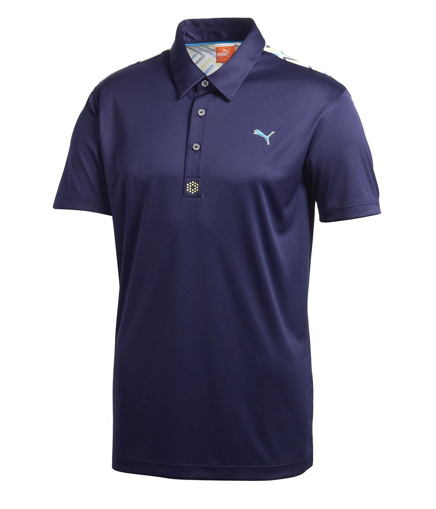 Puma Golf Tech Yoke Graphic Polo Shirt
