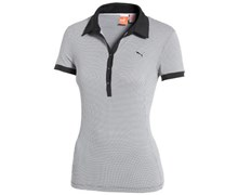 Puma Ladies D2 Pattern Printed Polo Shirt (Black/White)