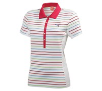 Puma Golf Ladies Yarn Dye Stripe Polo Shirt (Pink/White)