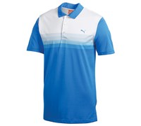 Puma Golf Junior Yarn Dye Stripe Polo Shirt (Brilliant Blue)