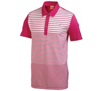 Puma Golf Mens Yarn Dye Stripe Polo Shirt (Pink/Purple)