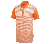 Puma Golf Mens Yarn Dye Stripe Polo Shirt (Vibrant Orange)