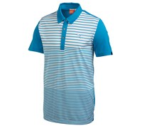 Puma Golf Mens Yarn Dye Stripe Polo Shirt (Blue Aster)