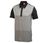 Puma Golf Mens Yarn Dye Stripe Polo Shirt (Black)