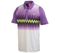 Puma Golf Mens Duo Swing Graphic Stripe Polo Shirt 2014 (Lavender)