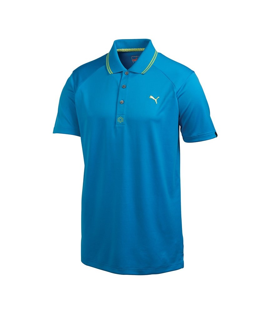 Puma golf mens cat jacquard polo shirt golfonline for Mens puma golf shirts