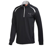 Puma Golf Mens Longsleeve 1/4 Zip Top 2014 (Black)