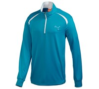 Puma Golf Mens Longsleeve 1/4 Zip Top 2014 (Blue Aster)