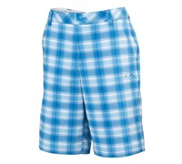 Puma Golf Mens Blur Plaid Tech Shorts (Blue/Multi)