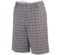 Puma Golf Mens Plaid Tech Shorts 2014 (Black/Multicolour)