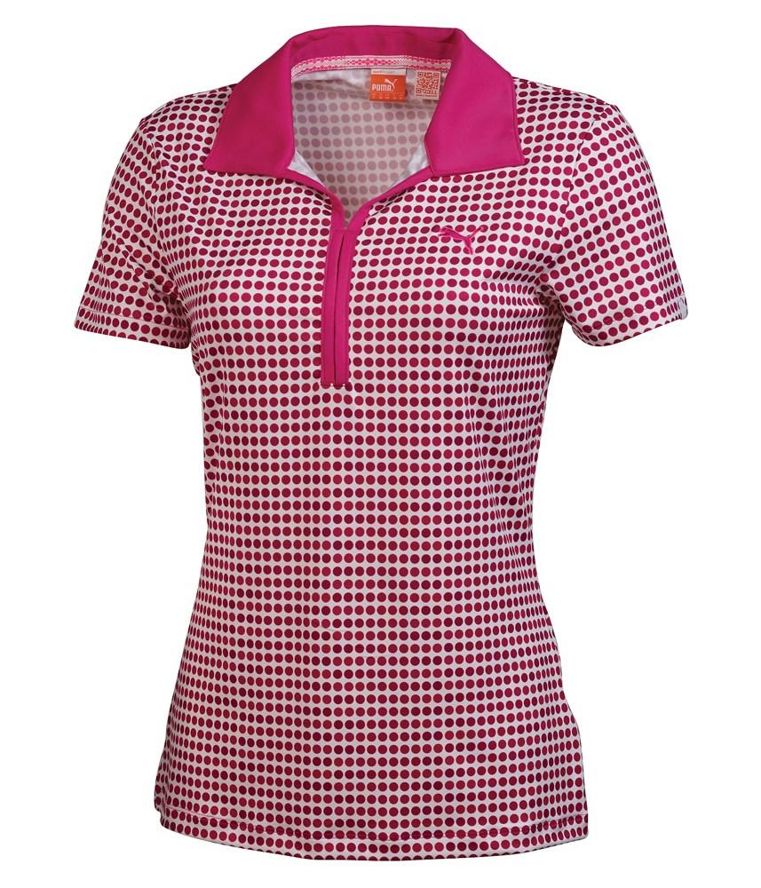 puma ladies dot pattern polo shirt 2014 golfonline