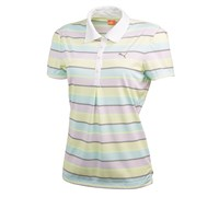 Puma Golf Ladies Roadmap Stripe Polo Shirt 2014 (Cerise/White/Black)