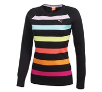 Puma Golf Ladies Crew Stripe Sweater 2014 (Black)