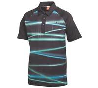 Puma Golf Mens Raglan Light Polo Shirt 2014 (Black/Blue)