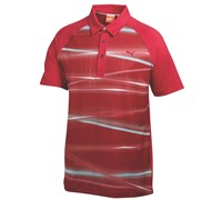 Puma Golf Mens Raglan Light Polo Shirt 2014 (White/Red/Blue)
