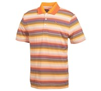 Puma Golf Junior Roadmap Stripe Golf Polo Shirt 2014 (White/Gold/Orange)