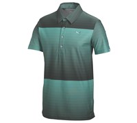 Puma Golf Mens Ombre Stripe Golf Polo Shirt 2014 (Green/Black)
