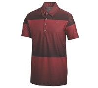 Puma Golf Mens Ombre Stripe Golf Polo Shirt 2014 (Crimson/Black)