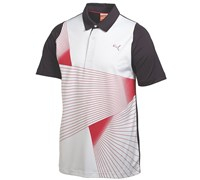 Puma Golf Mens Duo Swing Graphic Polo Shirt 2014 (White/Red)