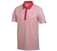 Puma Golf Mens Pattern Print Golf Polo Shirt 2014 (Crimson/White)