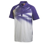 Puma Golf Mens Raglan Graphic Polo Shirt 2014 (White/Navy)