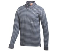 Puma Golf Mens Long Sleeve Yarn Dye Golf Polo Shirt 2014 (Turbulance)