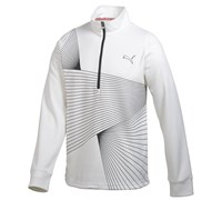 Puma Golf Mens Graphic 1/4 Zip Popover 2014 (White)