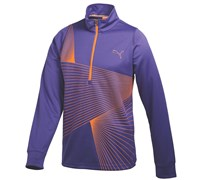 Puma Golf Mens Graphic 1/4 Zip Popover 2014 (Navy/Blue)