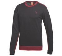 Puma Golf Mens Crew Neck Sweater 2014 (Black/Crimson)