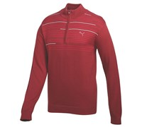Puma Golf Mens 1/4 Zip Novelty Sweater 2014 (Red)