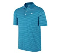 Nike Mens Victory Striped Polo Shirt 2013 (Vivid Blue/White)