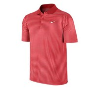 Nike Mens Victory Striped Polo Shirt 2013 (Crimson/White)