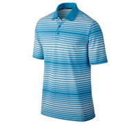 Nike Mens Key Bold Heather Stripe Polo Shirt 2014 (Blue/Silver)