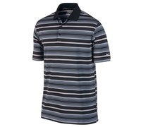 Nike Mens Key Stretch UV Stripe Golf Polo Shirt 2014 (Black/White/Silver)